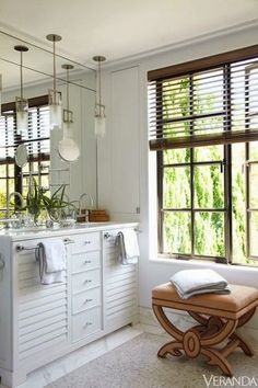 South Shore Decorating Blog: Focus on Bathrooms: 30 New Designs in Whites and Creams (and One Awesome Blue One)