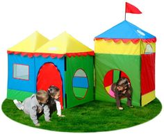 Camelot Village Pop-Up Play Tent with Carrying Bag Playhouse Outdoor, Outdoor Play, Outdoor Life, Childrens Play Tents, Kids Tents, Village Kids, Pop Up Play, Play Market, Party Accessories