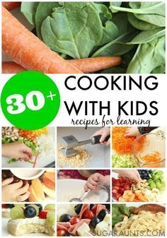 Cooking With Kids recipes for learning in the kitchen. So many healthy meal ideas on this site that kids can make and learn while cooking. Cooking with Kids kids cooking Cooking With Toddlers, Kids Cooking Recipes, Cooking Classes For Kids, Baking With Kids, Healthy Cooking, Healthy Snacks, Healthy Eating, Healthy Recipes, Cooking Games