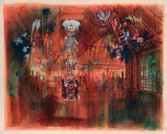 Enchanted Tiki Room concept art by John Hench