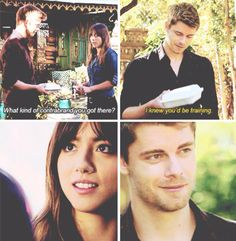 I never liked Skye and Ward together so I was very happy when they introduced Lincoln <-- me, them --> I still ship SkyeWard with all my heart, but it is possible that I might be persuaded to ship these two.