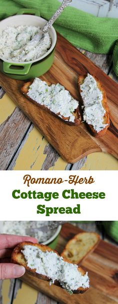 Romano Herb Cottage Cheese Spread is such an easy recipe to make, and such a smarter option over most ready-made spreads in the market. Fresh herbs and a bit of good Romano cheese and fresh ground pepper add all the flavor you will need, and using whipped cottage cheese makes for a smooth high protein spread.