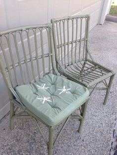 Rattan chairs made over