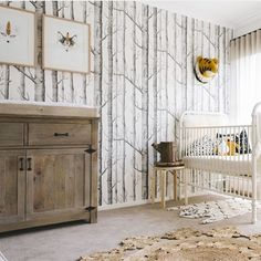 63 Rustic Baby Boy Nursery Room Design Ideas - About-Ruth Baby Boy Rooms, Baby Boy Nurseries, Kids Rooms, Nursery Themes, Nursery Room, Nursery Ideas, Wall Paper Nursery, Room Ideias, Kindergarten Wallpaper