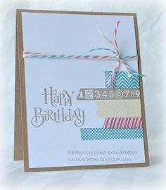 Gina's Little Corner of StampinHeaven: A Washi Wonder Birthday