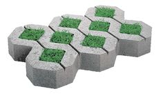 Turfstone™ - Concrete Patio Pavers (Driveway - use pea gravel instead of grass)