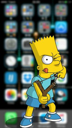 3D Bart Simpsons #Phone #Wallpaper #Background