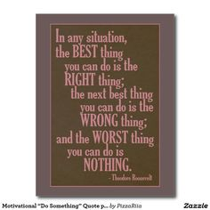 """Motivational """"Do Something"""" Quote postcard"""