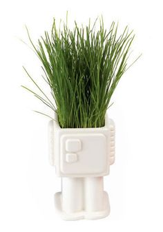 Grow-bot Planter. Combining plants and robots just seems SO fitting for you and Patrick