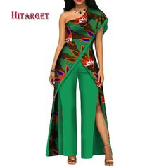 2017 new autumn African jumpsuit for women sexy off shoulder Jumpsuit dashiki clothing batik wax printing pure cotton African Fashion Ankara, Latest African Fashion Dresses, African Print Fashion, African Dashiki, African Jumpsuit, African Dress, African Clothes, African Traditional Dresses, Traditional Outfits