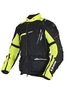 TM142L - Oxford Montreal 2.0 Mens Mid Motorcycle Jacket L Black Fluo: Amazon.co.uk: Car & Motorbike
