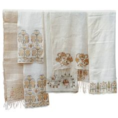 Ottoman Turkish Embroidered Towels  | From a unique collection of antique and modern textiles and quilts at https://www.1stdibs.com/furniture/more-furniture-collectibles/textiles-quilts/