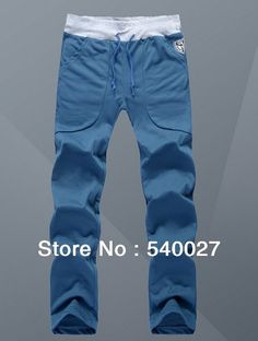 2014Men's fashion brand new casual sports pants spring autumn winter loose trousers loungewear man jogging pants 5 colors, M-3xl