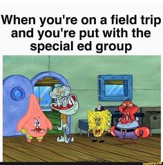 When you're on a field trip and you're put with the special ed group – popular memes on the site iFunny.co #school #memes #dank #dankmemes #dankmeme #feature #featureworthy #funny #ifunny #instagram #field #trip #school #specialed #oof #damn #twitter #reddit #spicy #spicymemes #when #youre #pic
