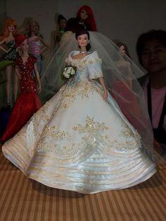 barbies  Philippine Maria Clara Bridal Gown..1..2 qw Barbie Bridal, Barbie Wedding Dress, Wedding Doll, Barbie Gowns, Barbie Dress, Barbie Clothes, Bridal Dresses, Wedding Gowns, Barbie Doll