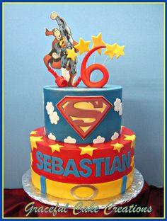 superman birthday party cake ideas