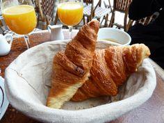 Parisian breakfast for two - oven fresh croissants