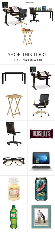 """All three of my desks"" by punkalishous ❤ liked on Polyvore featuring interior, interiors, interior design, home, home decor, interior decorating, Modloft, Hershey's, Wildfox and Yankee Candle"