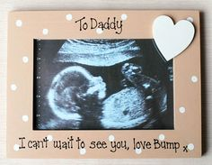 Baby Gifts Product   ... GIFTS FOR BABY BOYS :: Baby Scan Photo Frame - 7x5 - Personalised Baby