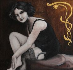 Margot, acrilico su tela con polistirolo. P.Rosin
