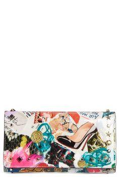 aa0b33ebba Apealing apparel - Christian Louboutin Macaron Trash Print Leather Wallet