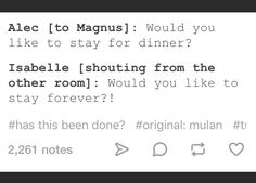 Isabelle is the one who basically started malec
