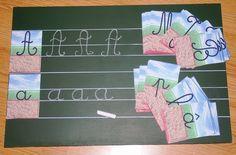 DIY: Ardoises de Calligraphie (Montessori) ~ La petite vie d'Ilhan et Mélia (ou la vie sans école)