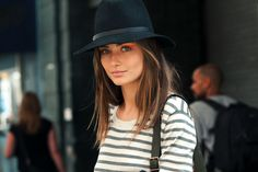 strong eye simple outfit hat
