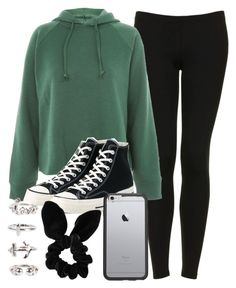 """""""Sin título #13504"""" by vany-alvarado ❤ liked on Polyvore featuring Topshop, Converse, OtterBox and NLY Trend"""
