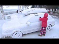 Audi: im Eis festgefroren