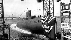 """62 года назад на воду была спущена первая атомная подводная лодка """"Наутилус"""".  #история #США #Америка #Наутилус"""