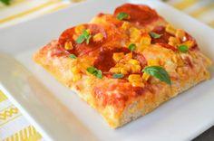 Pizza Pepperoni cu porumb Pizza, Pepperoni, Lasagna, Quiche, Breakfast, Ethnic Recipes, Food, Morning Coffee, Essen