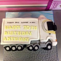 See 2 photos from 6 visitors to Cupcake Couture. Cupcake Couture, Truck Cakes, Adult Birthday Cakes, Party Cakes, Four Square, Birthday Cakes For Adults, Celebration Cakes