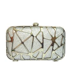 Bling Jewells Siver Party Box Clutch With Chain Party In A Box, Clutches, Coin Purse, Bling, Wallet, Purses, Chain, Stuff To Buy, Handbags