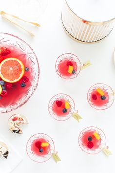 Berry Punch Recipe and Brass Drink Tag DIY