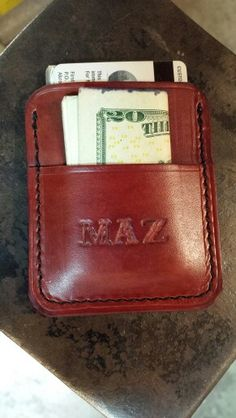 Custom leather pocket wallet