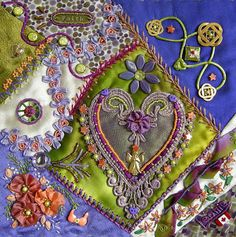 I ❤ crazy quilting, & embroidery . . . Allie's in Stitches: crazy quilt blocks