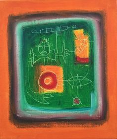 Título: Recuerdos II  Autor: Alvaro Galindo Vácha  Dimensiones: 35 x 30 cm  Técnica: Óleo sobre tela  Año: 2010  Firmado: Frente y Revés