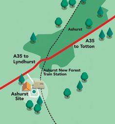 Ashurst Campsite - New Forest Forest Camp, New Forest, Train Station, Campsite, Camping