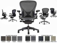 Herman Miller Aeron Home Office Chair Highly Adjustable - Graphite Frame - Leather Arms - PostureFit - Classic Carbon - Medium Size B by Herman Miller Aeron Home Office Chair Highly Adjustable - Graphite Frame - Leather Arms - PostureFit - Classic Carbon - Medium Size B. $969.00. Full 12-Year Herman Miller Manufacturer's Warranty + Free USA Ground Shipping. Fully Loaded Aeron Chair with Fully Adjustable Arms & Forward Tilt.. Made largely of recycled materials, the Aeron cha...