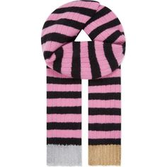 GUCCI Stripe cashmere & wool lurex scarf ($425) ❤ liked on Polyvore featuring accessories, scarves and multi