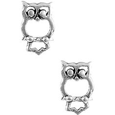 Jewel Exclusive Sterling Silver Open Owl Stud Earrings (13 CAD) ❤ liked on Polyvore featuring jewelry, earrings, stud earrings, studs, multi, sterling silver owl earrings, holiday earrings, cocktail jewelry, evening jewelry and owl jewellery