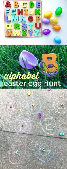 Alphabet Easter Egg Hunt and Match: A hands-on letter recognition game for toddlers and preschoolers!