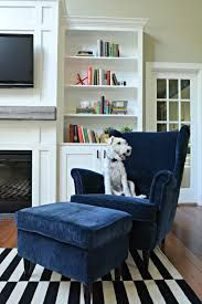 Living room updates {ikea stockholm rug} — decor and the dog Living Room Update, Rugs In Living Room, Living Room Interior, Living Room Decor, Ikea Living Room Chairs, Dining Chairs, Ikea Chairs, Desk Chairs, Cozy Living