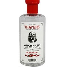 Thayers Alcohol-Free Witch Hazel with Organic Aloe Vera Formula Toner Lavender Toner For Face, Facial Toner, Facial Care, Thayers Witch Hazel Toner, Thayers Toner, Aloe Vera Toner, Lotion Tonique, Best Toner, Natural Toner