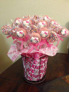 Adorable Hello Kitty Oreo pop bouquet.