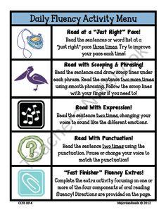 Teachers Notebook: Reading Fluency Freebie