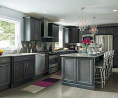 10 Gray Kitchens That Will Make You Rethink Everything: Charcoal Gray is a Glamorous Kitchen Choice
