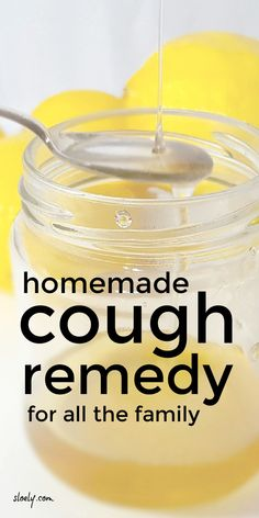 This simple homemade cough remedy for kids and for adults can be made fast from pantry ingredients including honey to sooth dry, persistent, chesty and hackings coughs and bring relief for sore throats day and night. #cough #coughremedy #coughmixture #coughmedicine #sorethroat