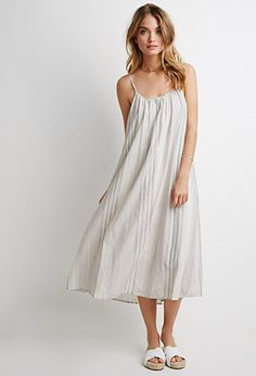 Mixed Stripe Maxi Dress | Forever 21 - 2002247775